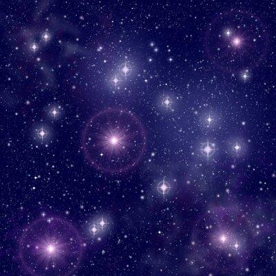 Quadro Estrelas brilhantes no espaço profundo