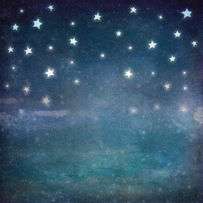 Quadro Estrelas, noturna, grunge, céu, fundo