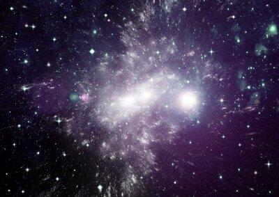 Quadro Estrelas, poeira e nebulosa de gás em uma galáxia distante