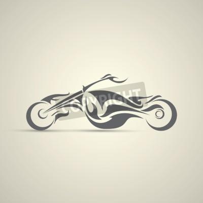 Quadro etiqueta de motocicleta vintage, emblema, elemento de design. logotipo abstrato da motocicleta