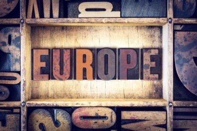 Quadro Europa, conceito, tipografia, tipo