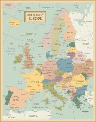 Quadro Europa-map.Layers altamente detalhados utilizados.