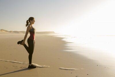 Quadro Exercício na praia