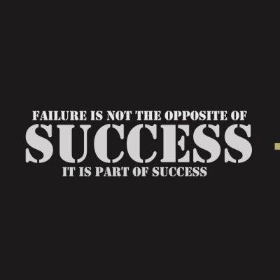 Quadro Falha não é o oposto do sucesso. Faz parte do sucesso.