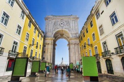 Quadro famoso arco da rua Augusta em Lisboa
