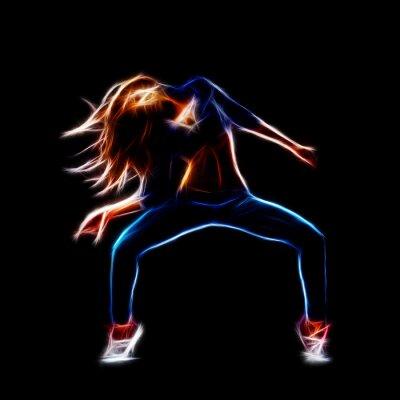 Quadro Feminino dançarina de hip hop