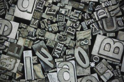 Quadro Fim, cima, typeset, letras