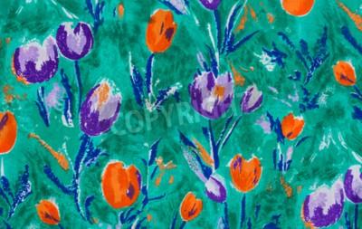 Quadro Fim da tela da cópia da tulipa acima do fundo.