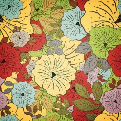 Quadro Floral, seamless, grunge, colorido, padrão