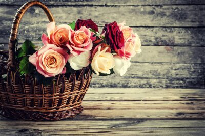 Quadro Flores cor-de-rosa bonitas