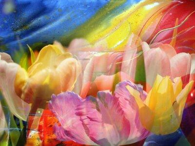 Quadro Fluxo de flores