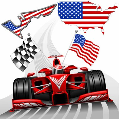 Quadro Formula 1 Race Car GP Austin EUA