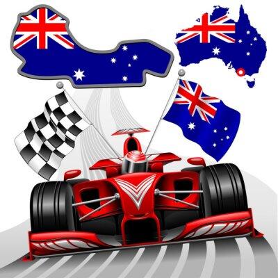 Quadro Formula 1 Race Car GP Austrália