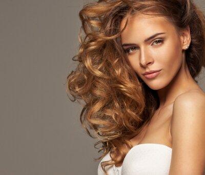 Quadro Foto da forma da beleza loira com maquiagem natural