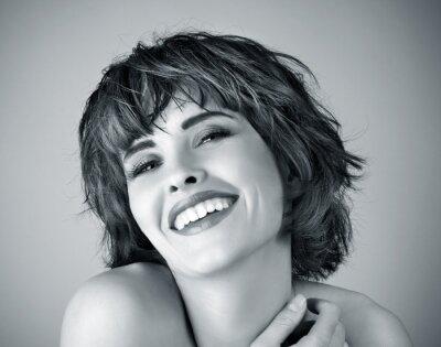 Quadro Foto da mulher de riso bonita