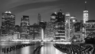 Quadro Foto preto e branco do beira-rio de Manhattan, NYC, EUA.
