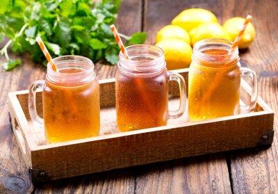 Quadro Frascos de limão chá gelado