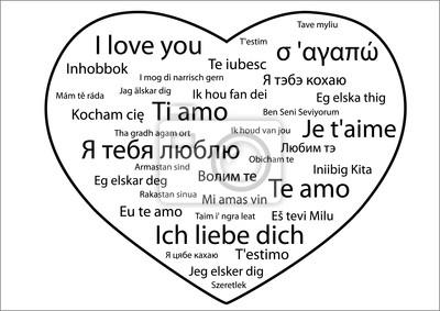 Frase Eu Te Amo Em Diferentes Idiomas Pinturas Para A Parede