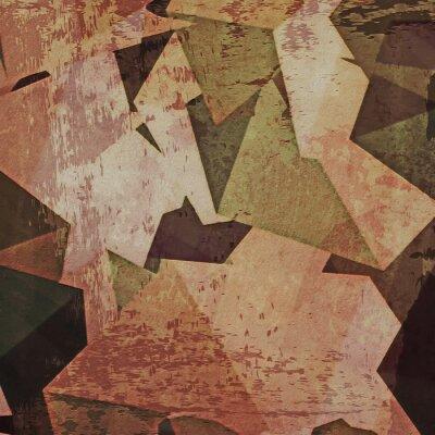 Quadro Fundo abstrato da parede do grunge, cubism