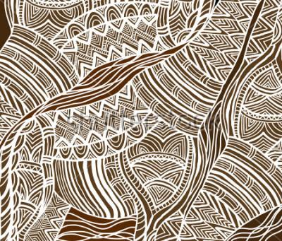 Quadro Fundo Africano no estilo étnico de pintados à mão