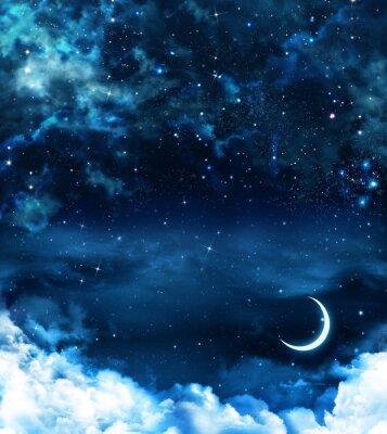 Quadro fundo bonito, céu noturno