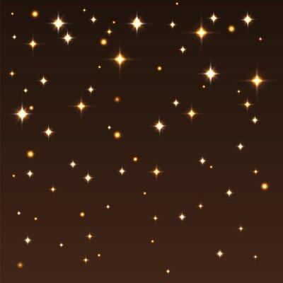 Quadro Fundo, brilhante, estrelas, escuro, céu