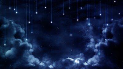 Quadro Fundo calmo, céu nocturno azul. Elementos fornecidos pela NASA