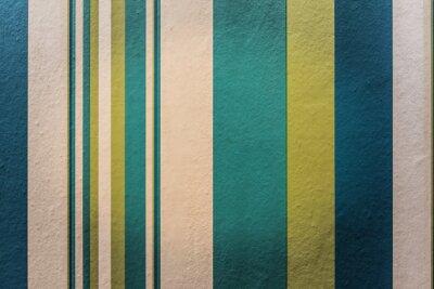 Quadro Fundo colorido abstrato do vintage com teste padrão da listra na parede