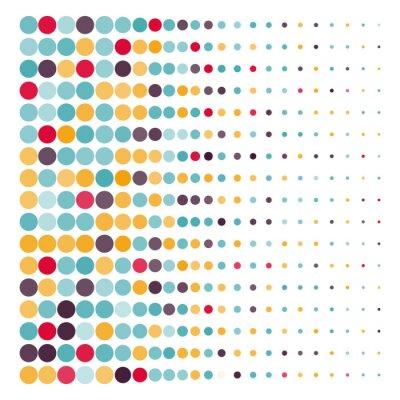Quadro Fundo, colorido, pontilhado, círculos, vetorial