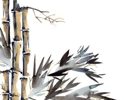 Quadro Fundo com bambu