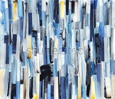 Quadro Fundo da arte abstracta com listras e as cercas multicoloridos. Textura de tinta em papel