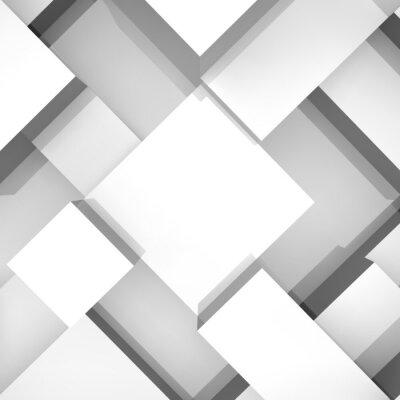 Quadro Fundo da estrutura de blocos 3d. Ilustração do vetor.