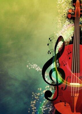 Quadro Fundo da música
