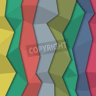 Quadro Fundo de papel colorido 3d - estilo origami.