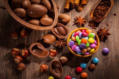 Quadro Fundo do chocolate de Easter