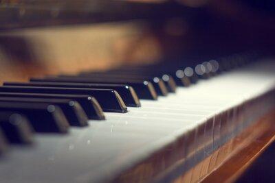 Quadro Fundo do teclado de piano com foco seletivo