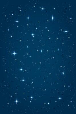 Quadro Fundo estrelado da noite azul. Modelo de design vertical do vetor