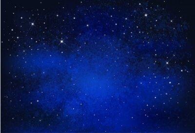 Quadro Fundo estrelado do céu da noite do vetor.