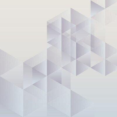 Quadro Fundo geométrico abstrato, design moderno triangular