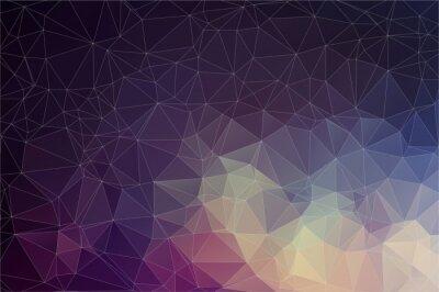 Quadro Fundo geométrico colorido com triângulos
