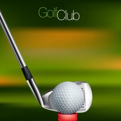 Quadro Fundo Golf Todos os elementos estão em camadas separadas e agrupadas.