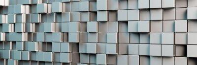 Quadro Fundo panorâmico de cubos cinzentos