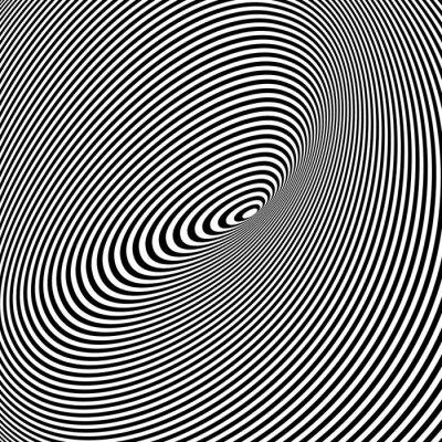Quadro Fundo preto e branco Opt Art