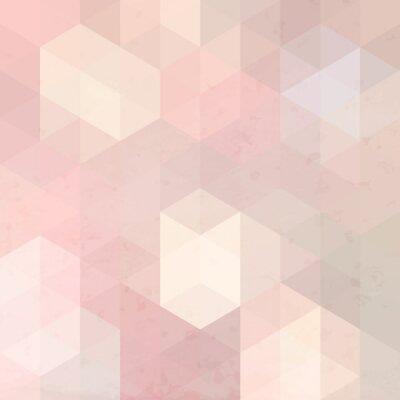 Quadro Fundo retro geométrica com textura do grunge