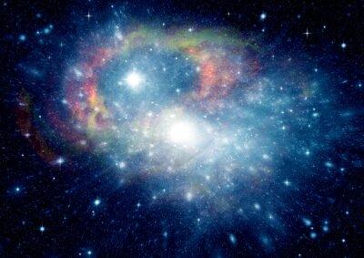 Quadro Galáxia em um espaço livre