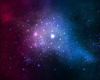 Quadro Galáxia fuzzy brilhante