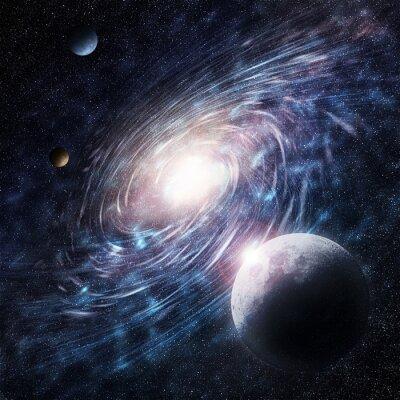 Quadro Galaxy azul Criativa