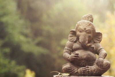 Quadro Ganesha, deidade, pedra, estátua