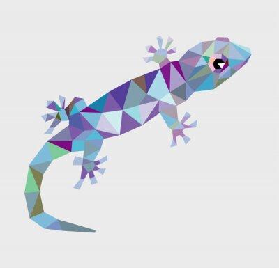 Quadro Gecko triângulo baixo polígono vector