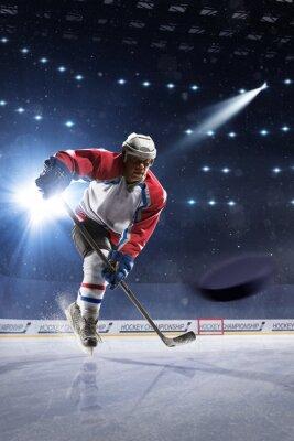 Quadro Gelo, hóquei, jogador, gelo, arena